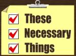 NecessaryThings