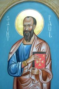 apostle paul in blue